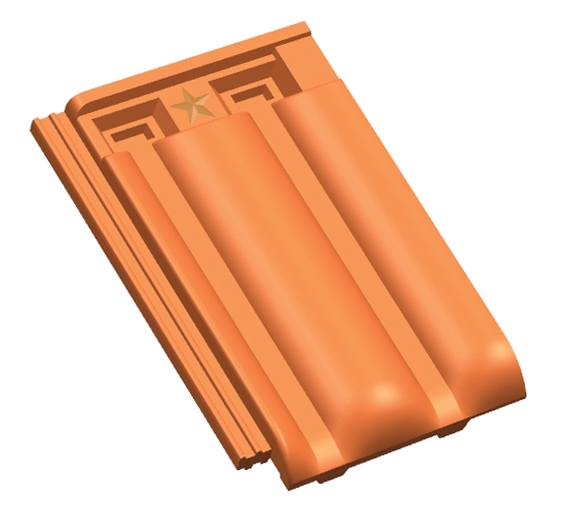 Traditional roof tiles Image